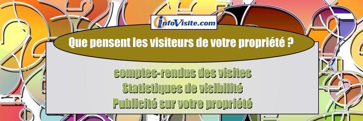 Infovisite.com : Vendeur, accèdez à votre rableau de bord internet